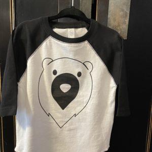 Toddler bear baseball shirt